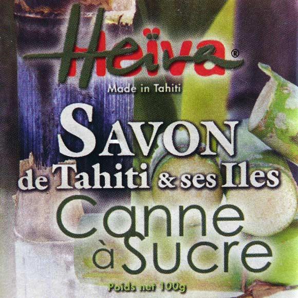 SAVON AU MONOI HEIVA TAHITI CANNE A SUCRE 100G