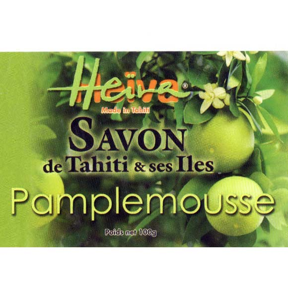 SAVON AU MONOI HEIVA TAHITI PAMPLEMOUSSE VERT 100G