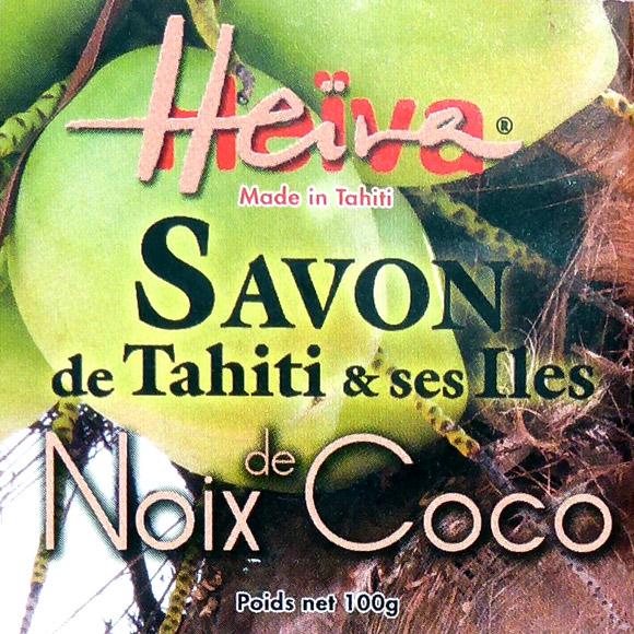 SAVON AU MONOI HEIVA TAHITI NOIX DE COCO 100G