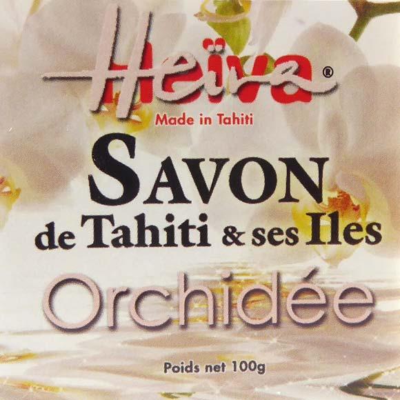 SAVON AU MONOI HEIVA TAHITI PARFUM ORCHIDEE 100G