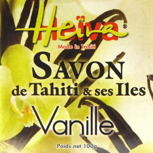 SAVON AU MONOI HEIVA TAHITI PARFUM VANILLE 100G