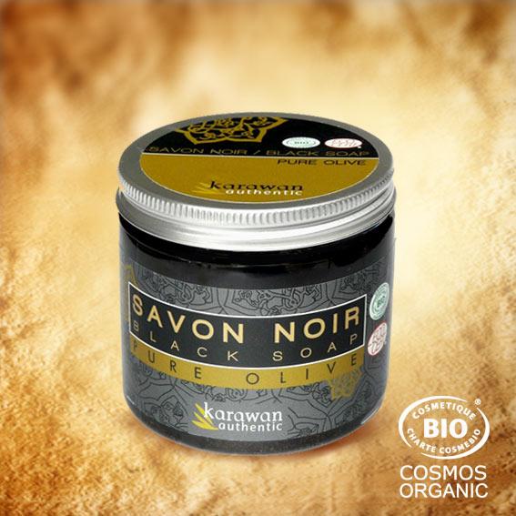 Ce savon noir 100% végétal, mou comme un caramel à l'image de sa couleur miel, est composé d'huile d'olive bio et réalisé selon la recette ancestrale marocaine.