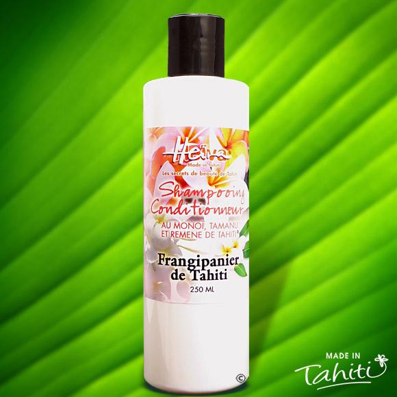 Appréciez ce shampooing conditionneur Heiva Tahiti, onctueux et épais en flacon 250 ml avec son bouchon à levier. Ce shampooing 2 en 1 avec conditionneur est livré sous film hermétique