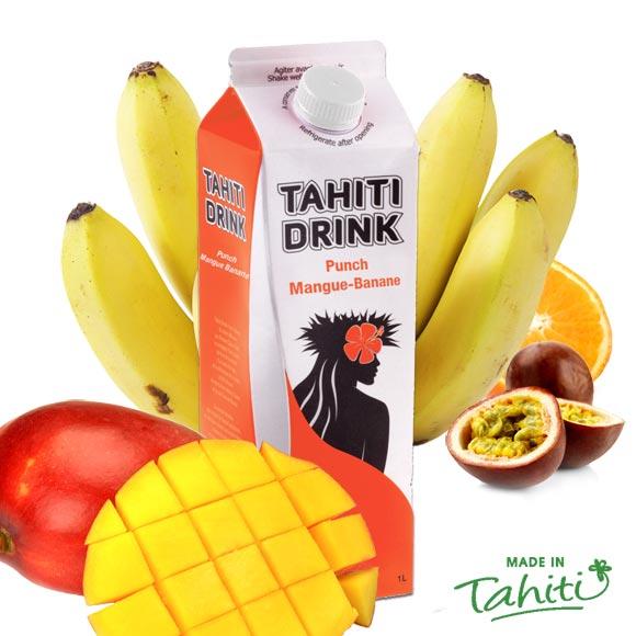 La touche polynésienne authentique pour vos soirées, avec la star des bringues polynésiennes : Tahiti Drink, et ses nouvellles saveurs mangue ananas, fabriqué à l'usine de Jus de Fruits de Moorea.