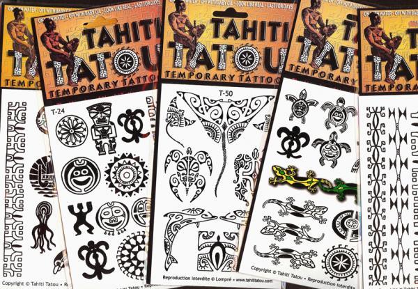 Tatou Tahiti, toute une collection de motifs temporaires polynésiens.