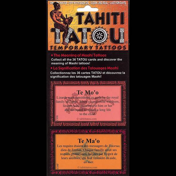 Chaque planche de Tatou Tahiti contient des informations sur la signification des tatouages polynésiens.