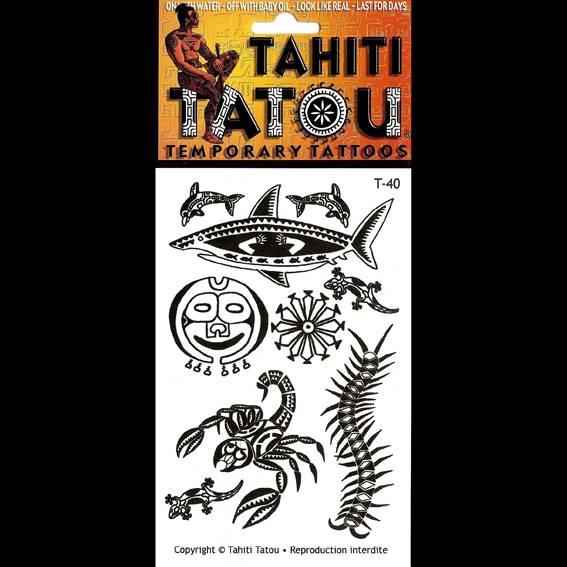 Un drôle d'animal polynésien sur votre peau pour une occasion ? Tahiti Tatou, tatouages temporaires en provenance directe de Tahiti