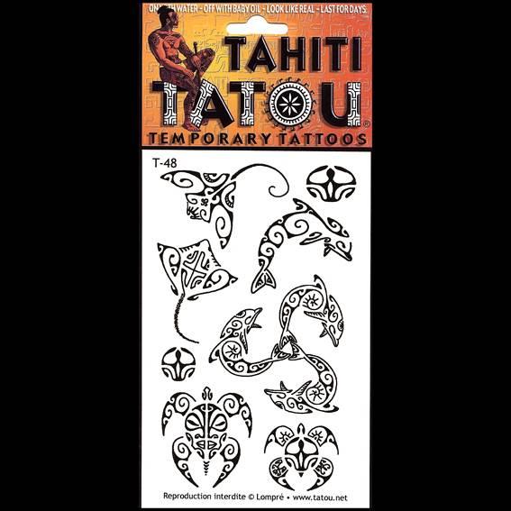 Raies Manta, tortues ou dauphins sur votre peau pour une occasion ? Tahiti Tatou, tatouages temporaires en provenance directe de Tahiti