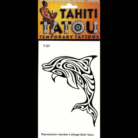 Dauphin polynésien sur votre peau avec un tatouage temporaire en provenance directe de Tahiti ? 8 x 10 !