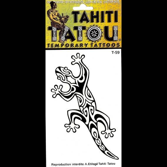 Le grand Margouillat polnésienne sur votre peau avec un tatouage temporaire en provenance directe de Tahiti ? 9 x 12 !
