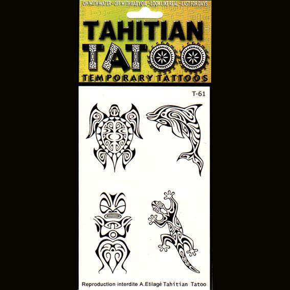 Symboles polynésiens sur votre peau pour une occasion ? Tahiti Tatoo, tatouages temporaires en provenance directe de Tahiti.