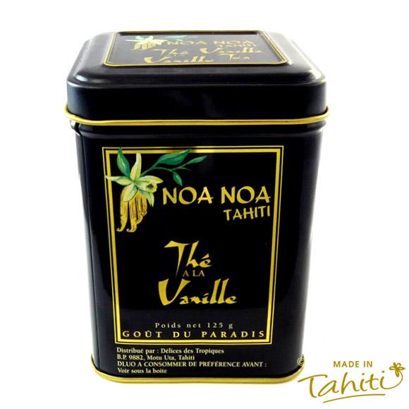 BOITE METAL THE EN VRAC NOA NOA TAHITI AROME VANILLE 125G
