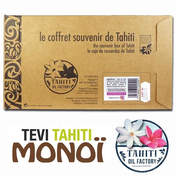 1 Tropical Mix Box by Tevi Tahiti en carton recyclé, imprimé avec des encres végétales.